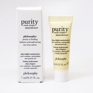5/$25💜Philosophy Purity Made Simple Moisturizer